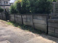 万年塀改修工事