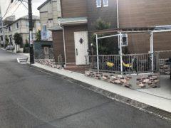 ブロック塀をブリックレンガ風に。